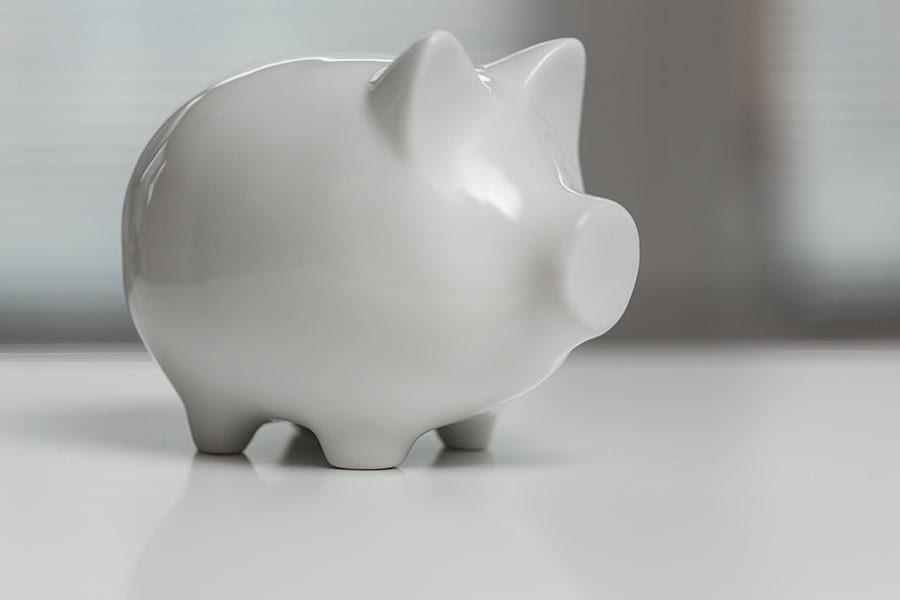 picture of a piggy bank to illustrate the concept of how much law firms should spend on a website