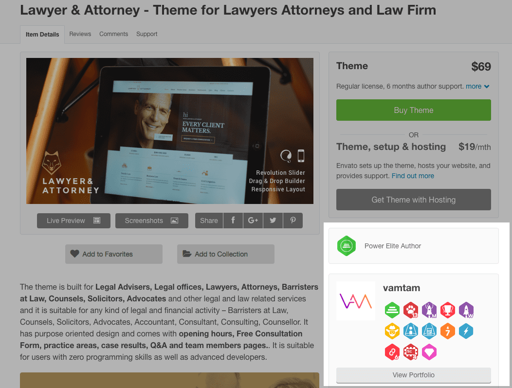 Lawyer Example - Designer Reputation