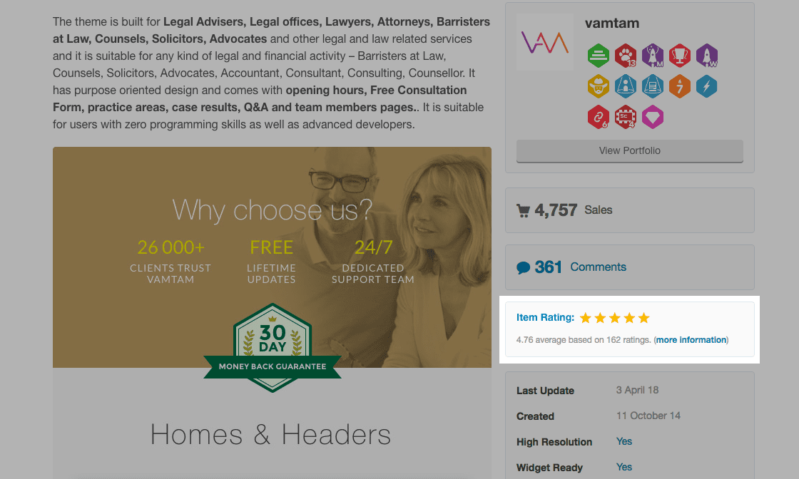 Lawyer Example - Ratings