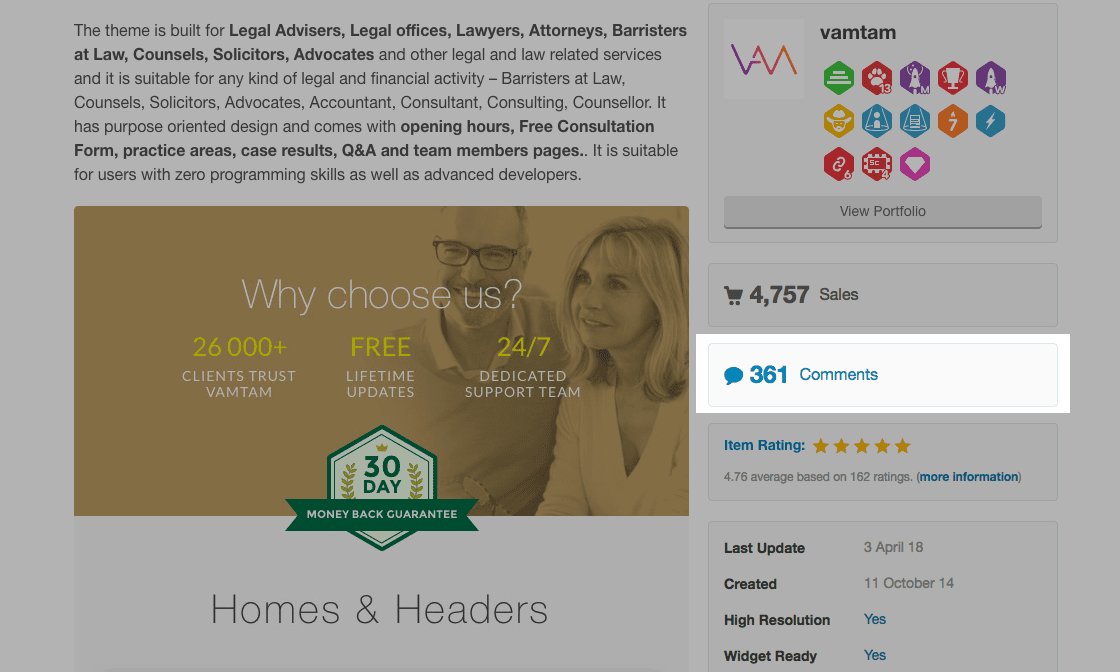 Lawyer Example - Support