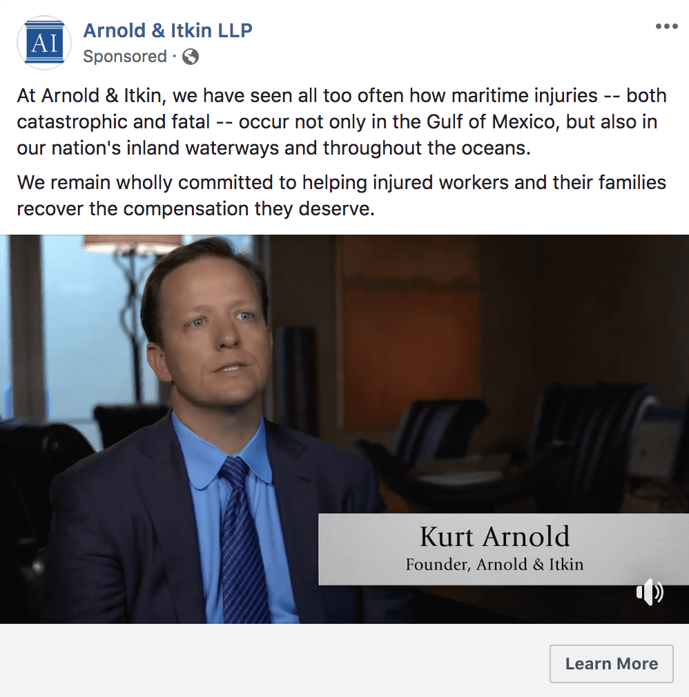 facebook ads examples for attorneys