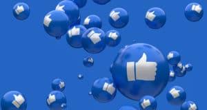 facebook thumbs up blue 3d